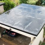 new flat garage rubber roof fitted in the fife area
